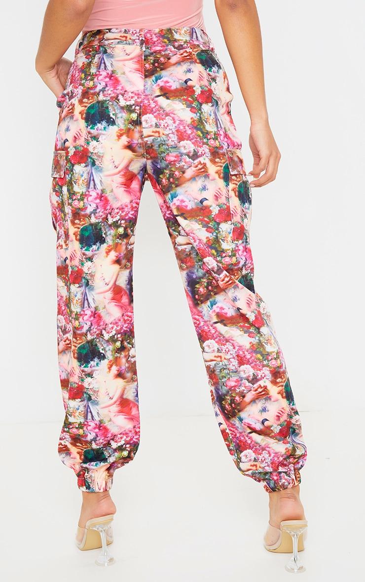 Renaissance Print Pocket Detail Cargo Trouser  4
