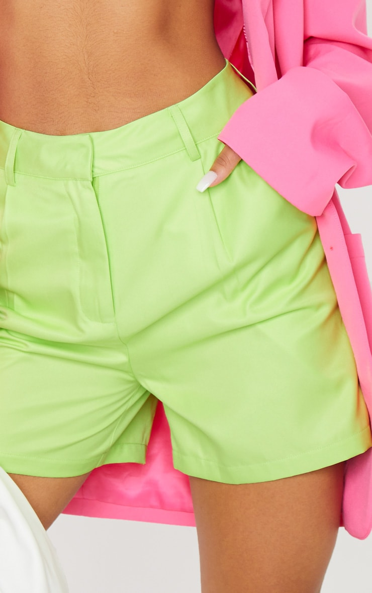Lime Green Woven Tailored Short 5