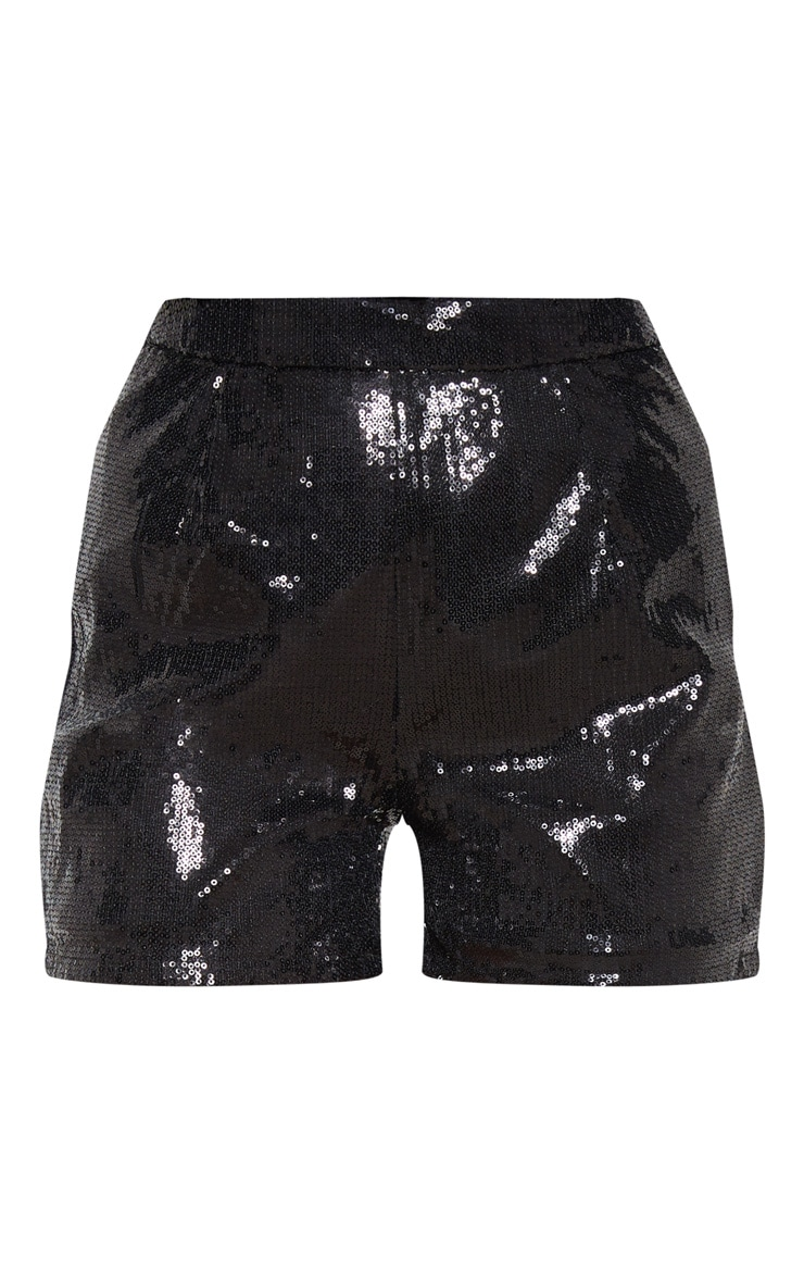 Black Sequin Formal Short  3