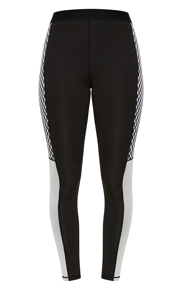 Black Contrast Sports Leggings 4