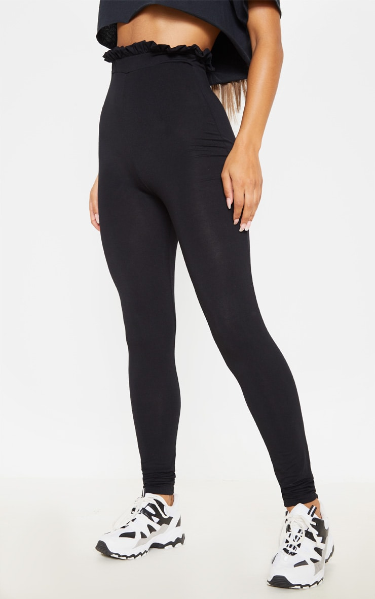 Black Paperbag Leggings 2
