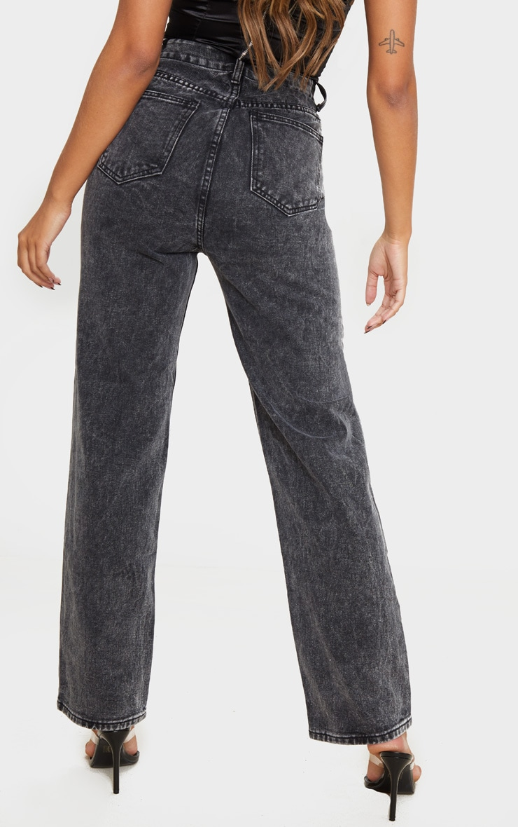 Black Acid Wash 90'S Baggy Jean 3