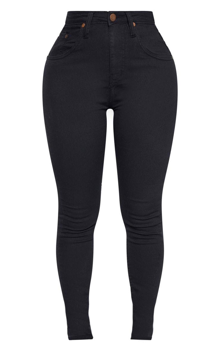 Shape Black High Waist Super Stretch Denim Jeans 3