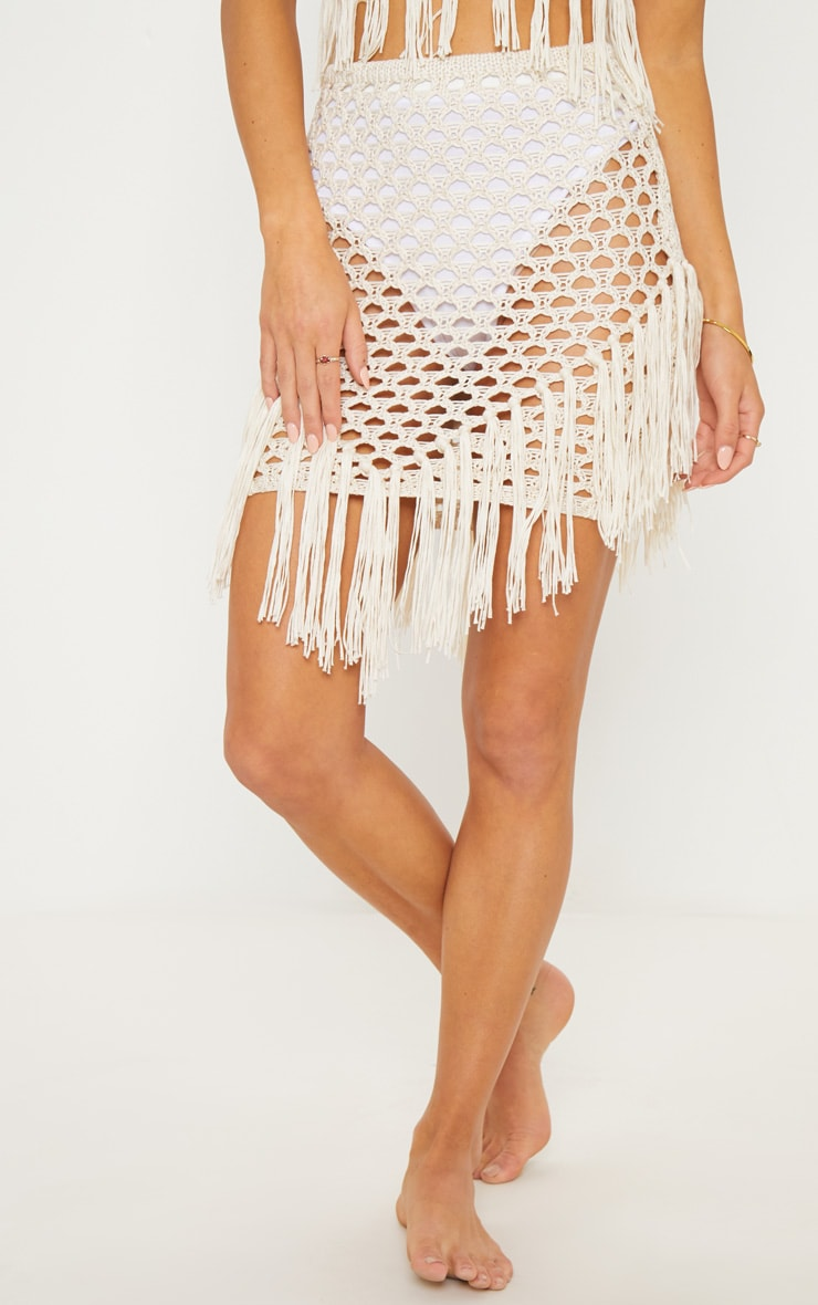 Cream Crochet Skirt 2