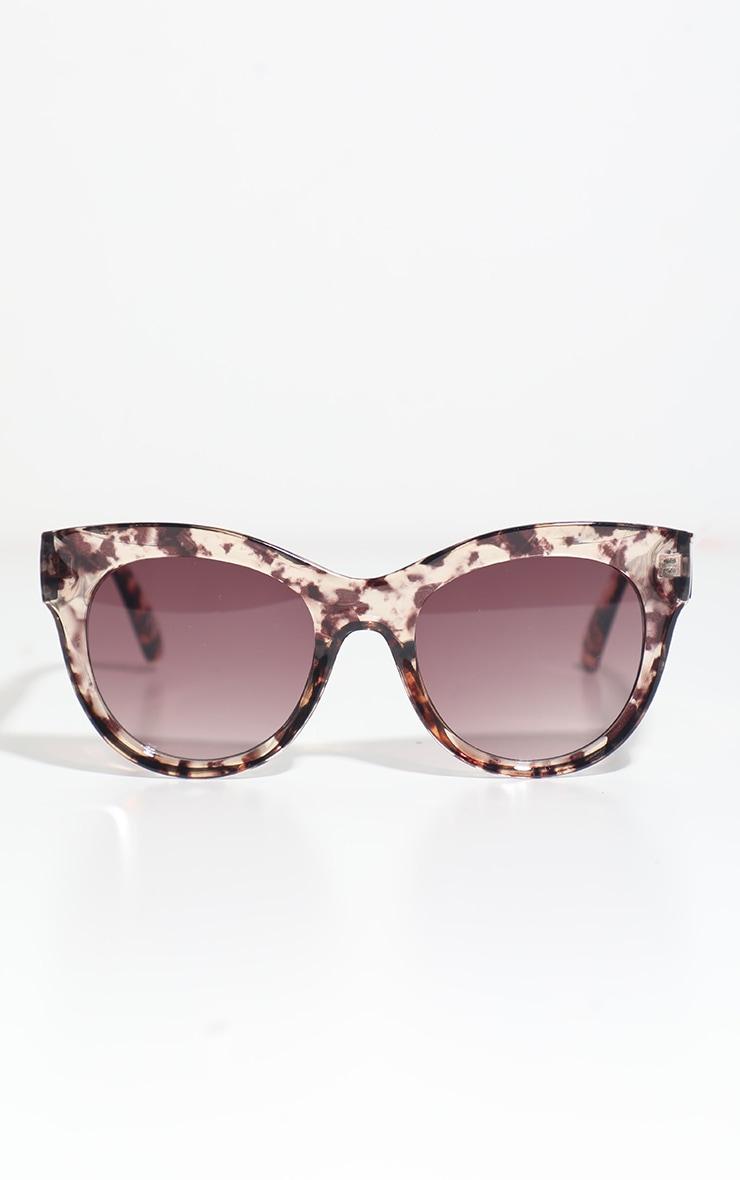 Dark Tortoise Clear Cat Eye Sunglasses 2