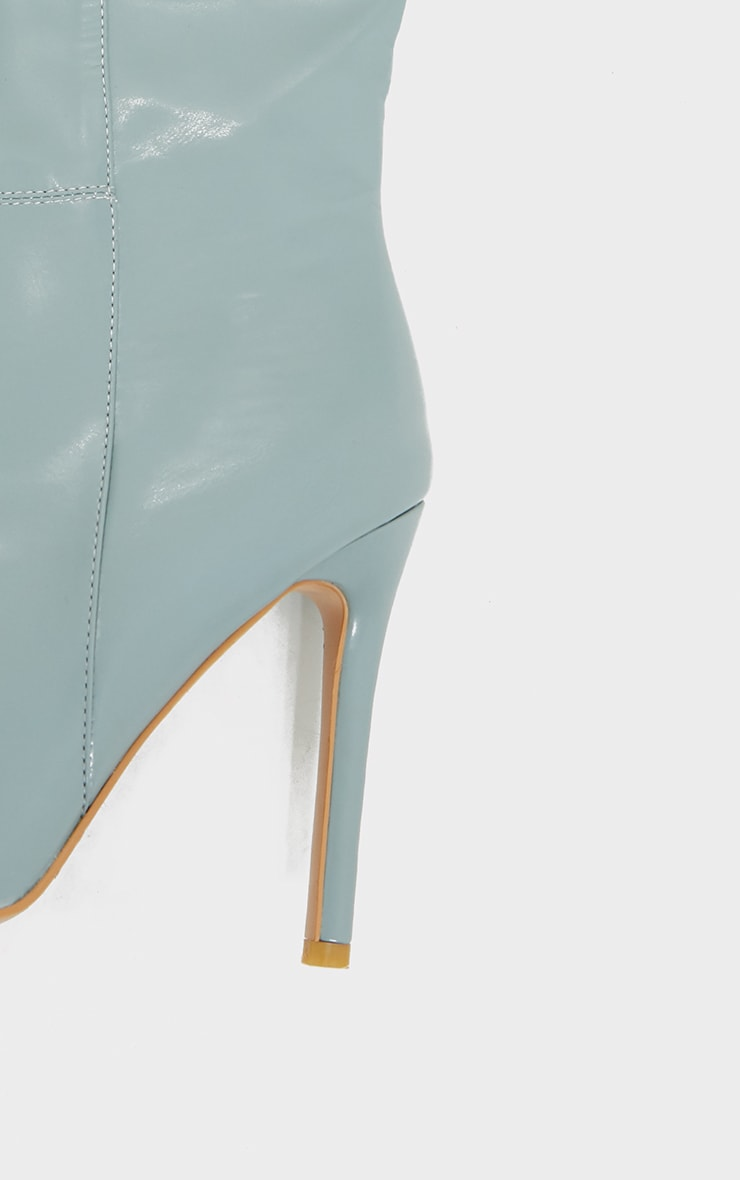 Mint  Knee High Stiletto Boots 4