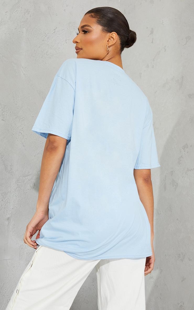 Baby Blue Tupac Portrait Print T Shirt 2