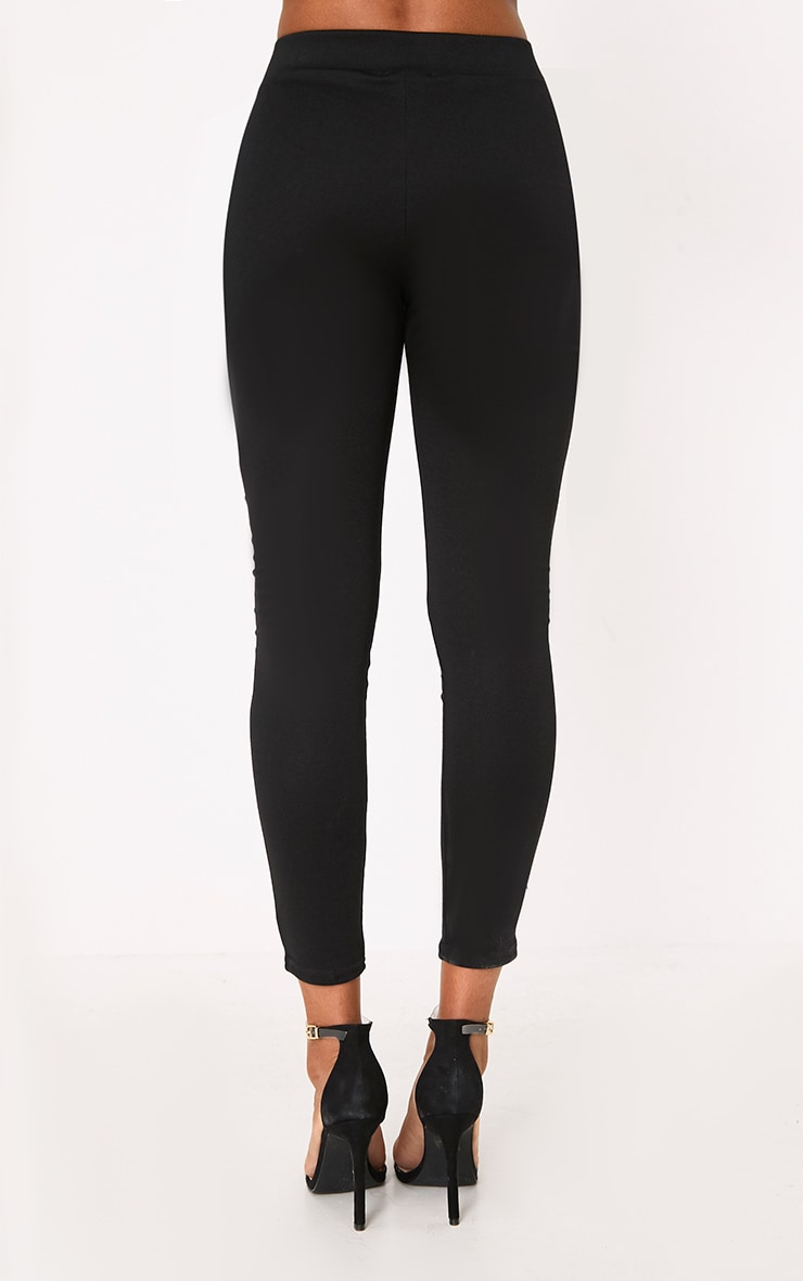 Black Ring Zip Leggings 4
