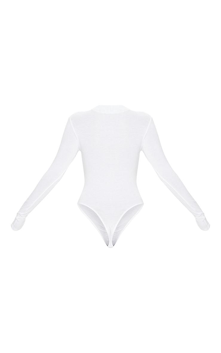 White California Slogan Long Sleeve Bodysuit 4