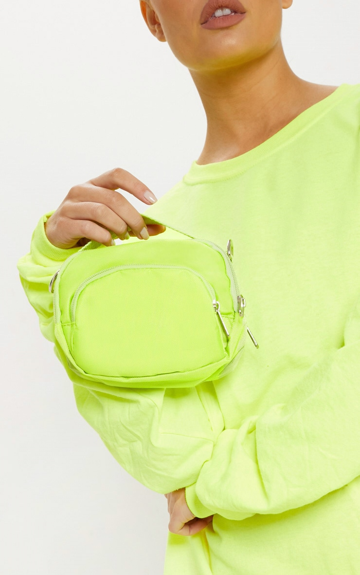 Lime Nylon Mini Bag 2