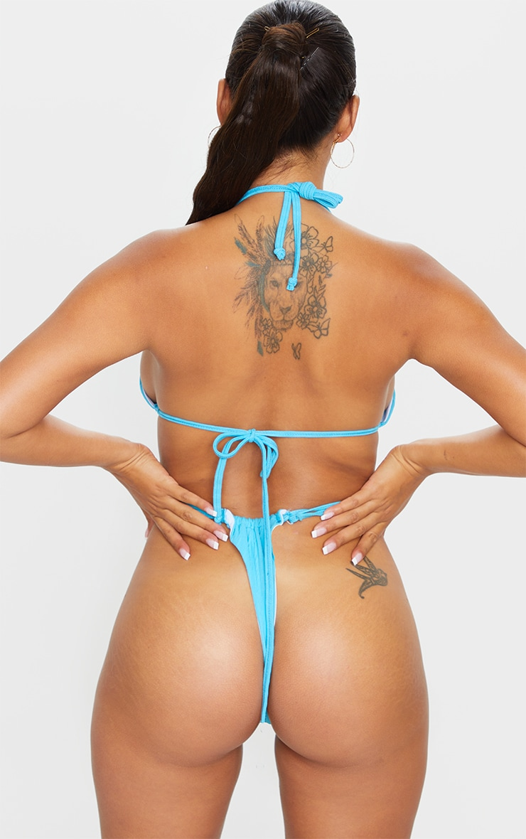 Shape Aqua Crinkle High Leg Adjustable Bikini Bottom 3