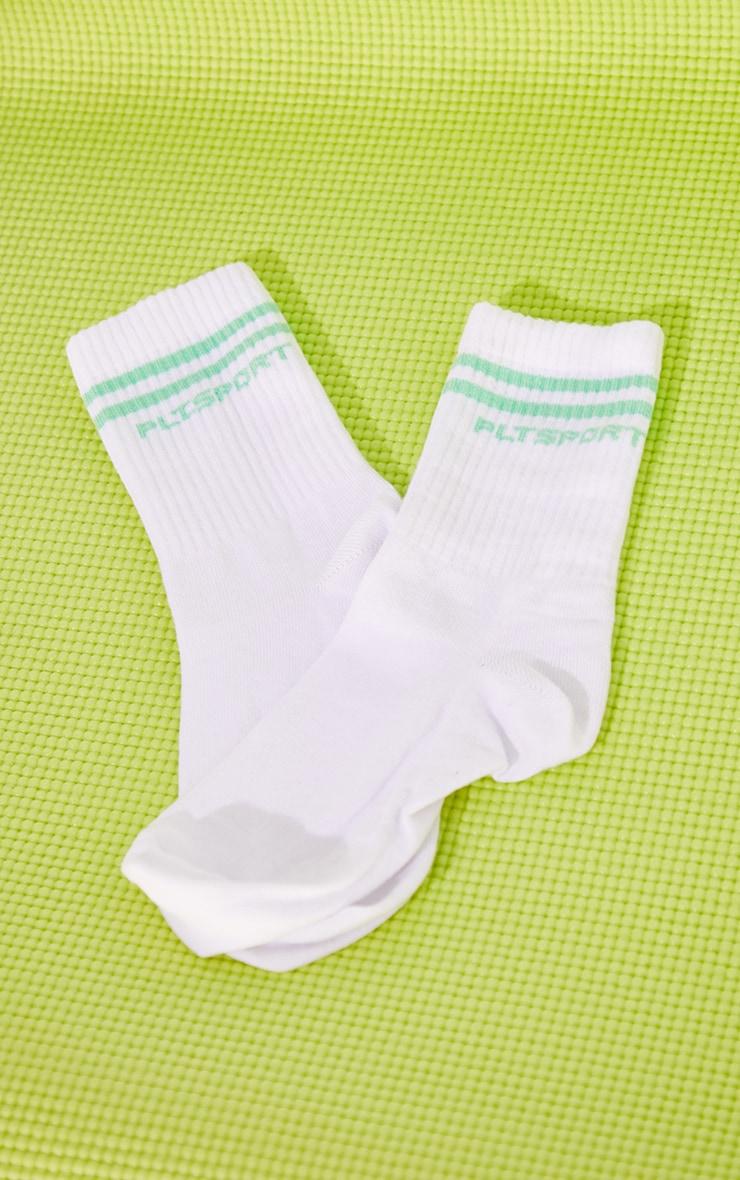 PRETTYLITTLETHING Mint Sports Socks 3
