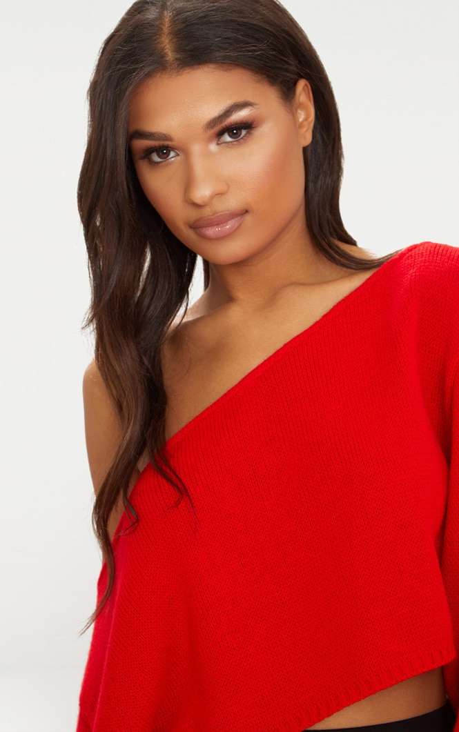 Red Wide Sleeve Jumper 5