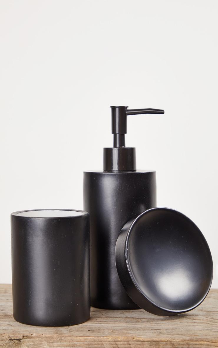 Matte Black 3 Piece Bathroom Soap Set 5