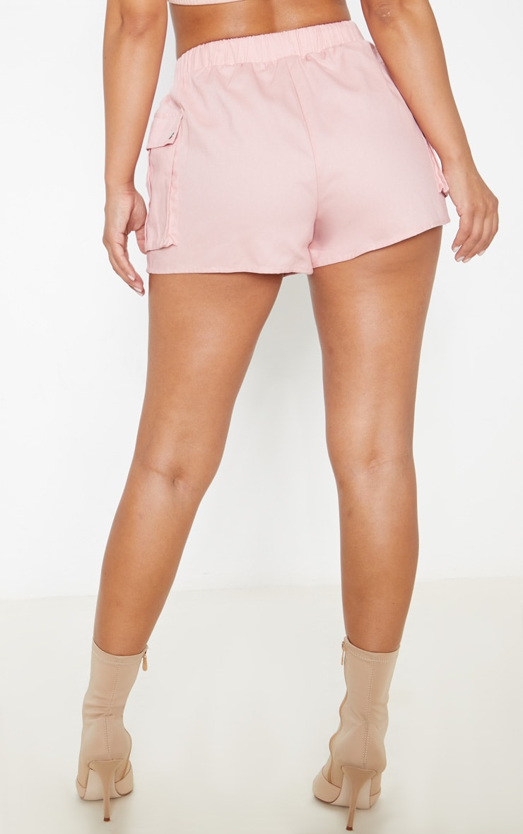 Petite Dusty Pink Cargo Pocket Shorts 4
