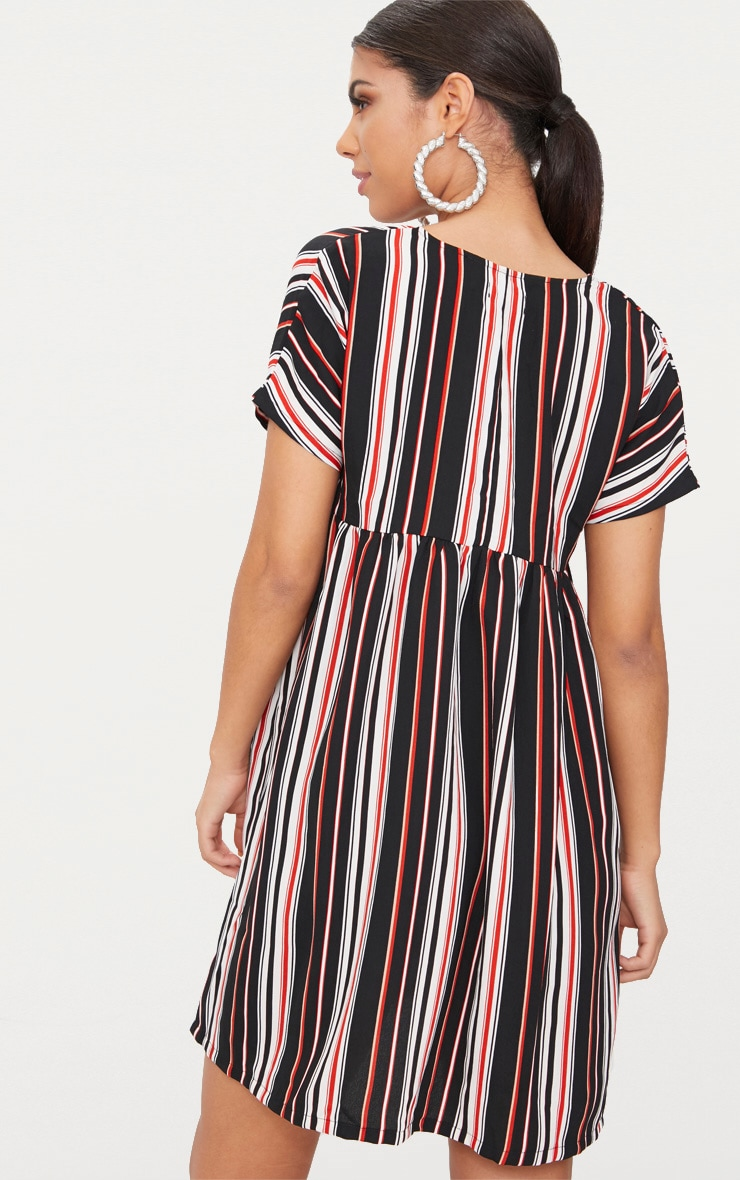 Black Stripe Smock Dress 2