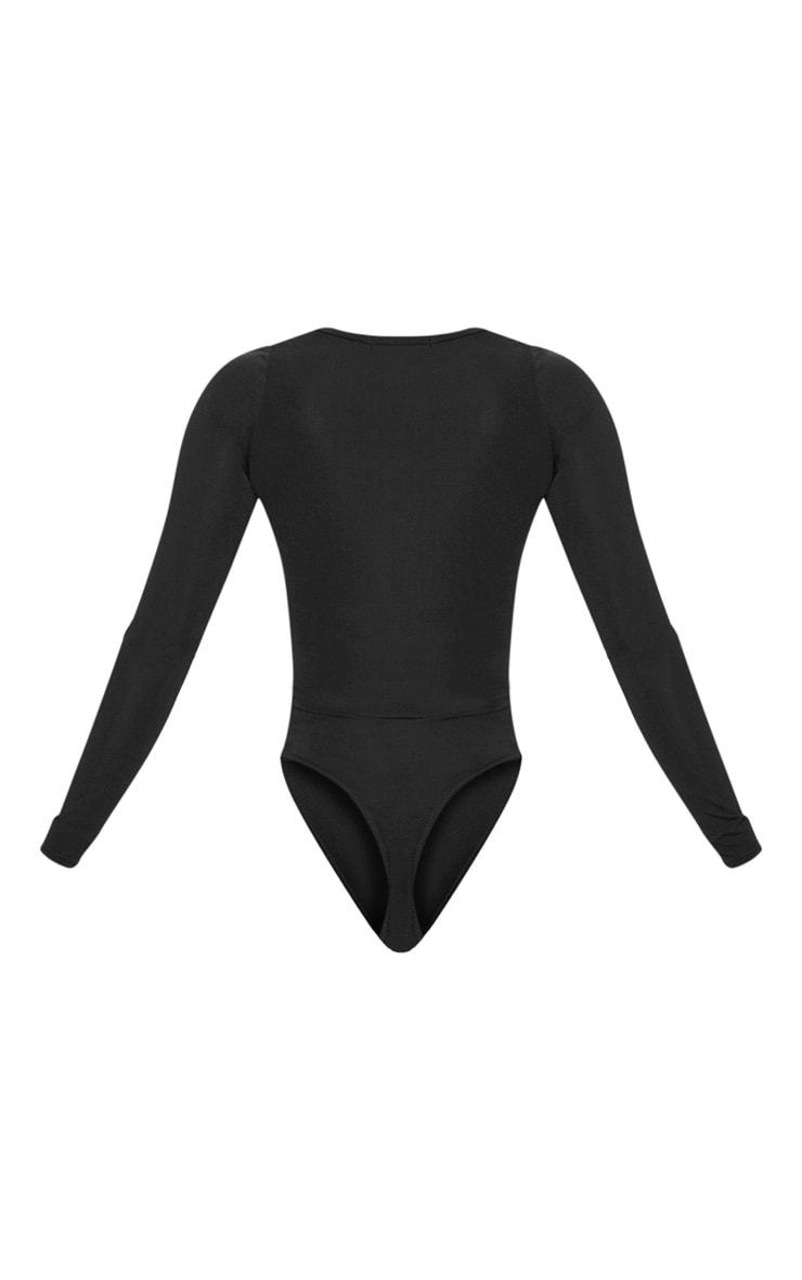 Shape Black Extreme Cut Out Slinky Bodysuit 4