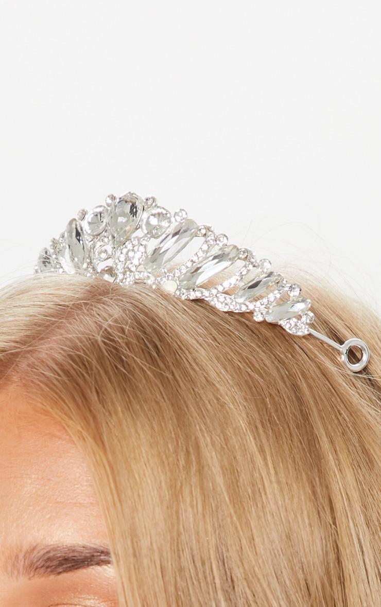 Silver Diamante Prom Tiara 4