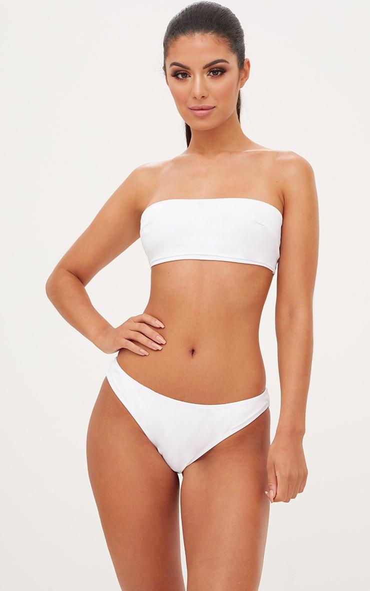 cc60f16367 White Bandeau Bikini Top image 1