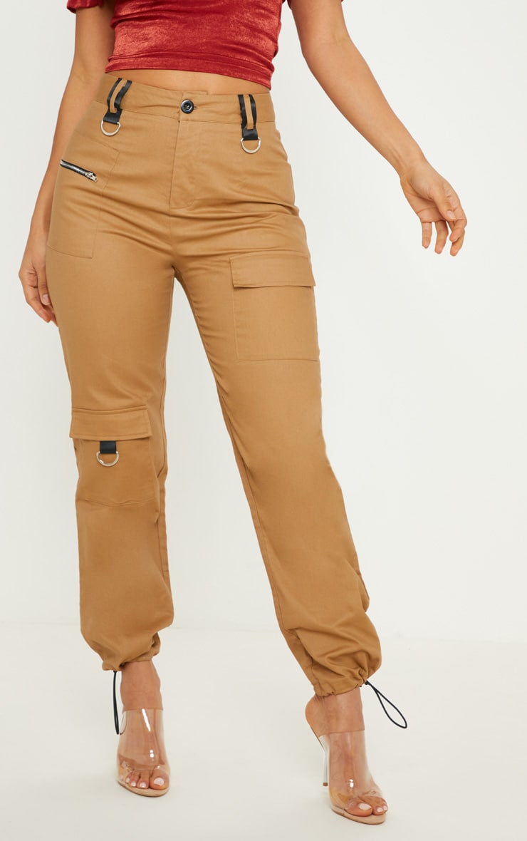 Tan Pocket Detail Cargo Pants 2