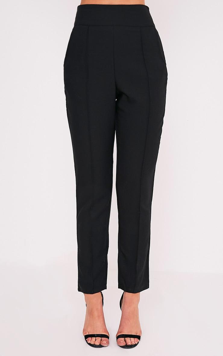Wendy pantalon à ourlet sur le devant noir 3