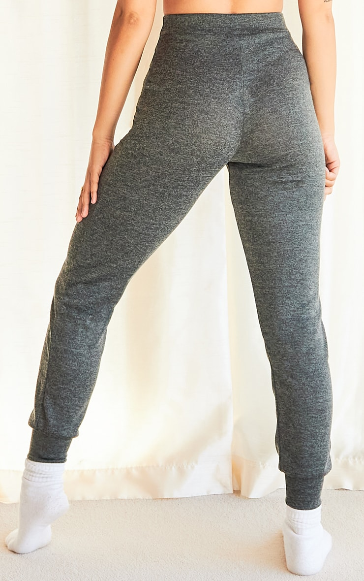 Charcoal Brushed Marl Skinny Joggers 3