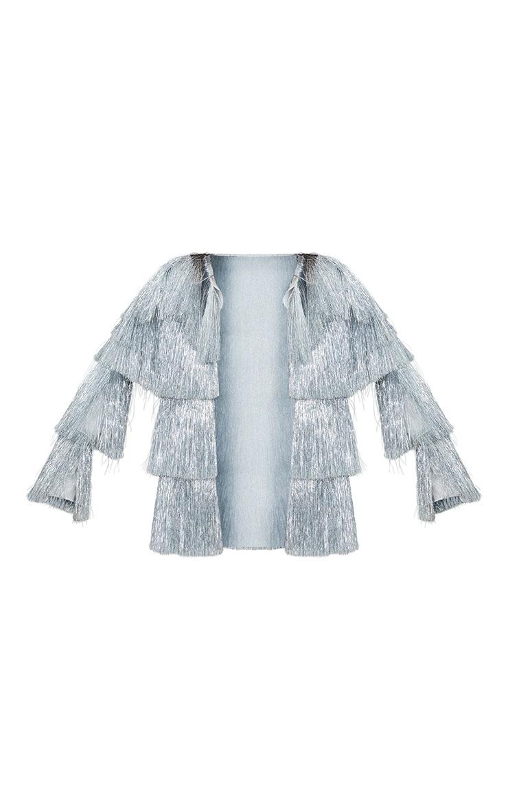 Silver Multi Fringe Jacket 3