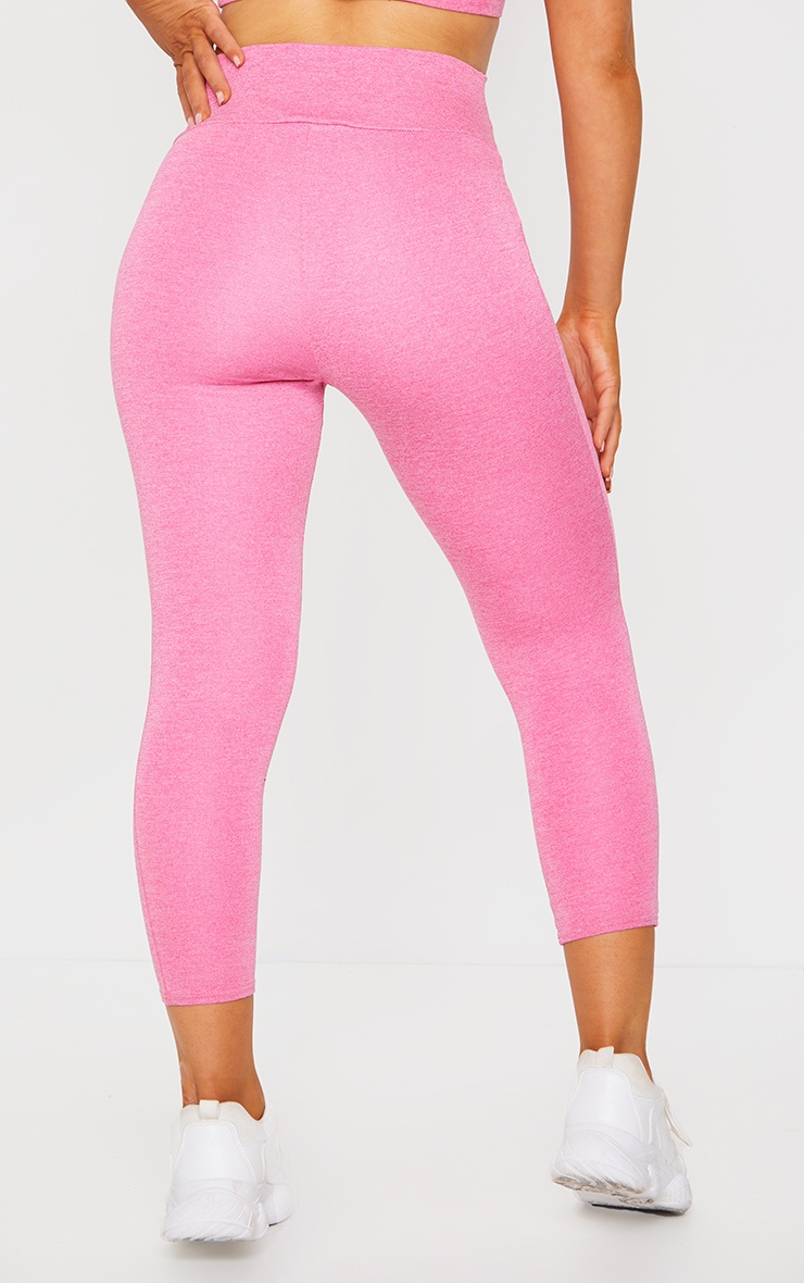 Pink Marl High Waist Cropped Legging 3