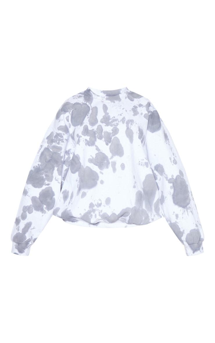 Grey Acid Wash Oversized Sweater 3