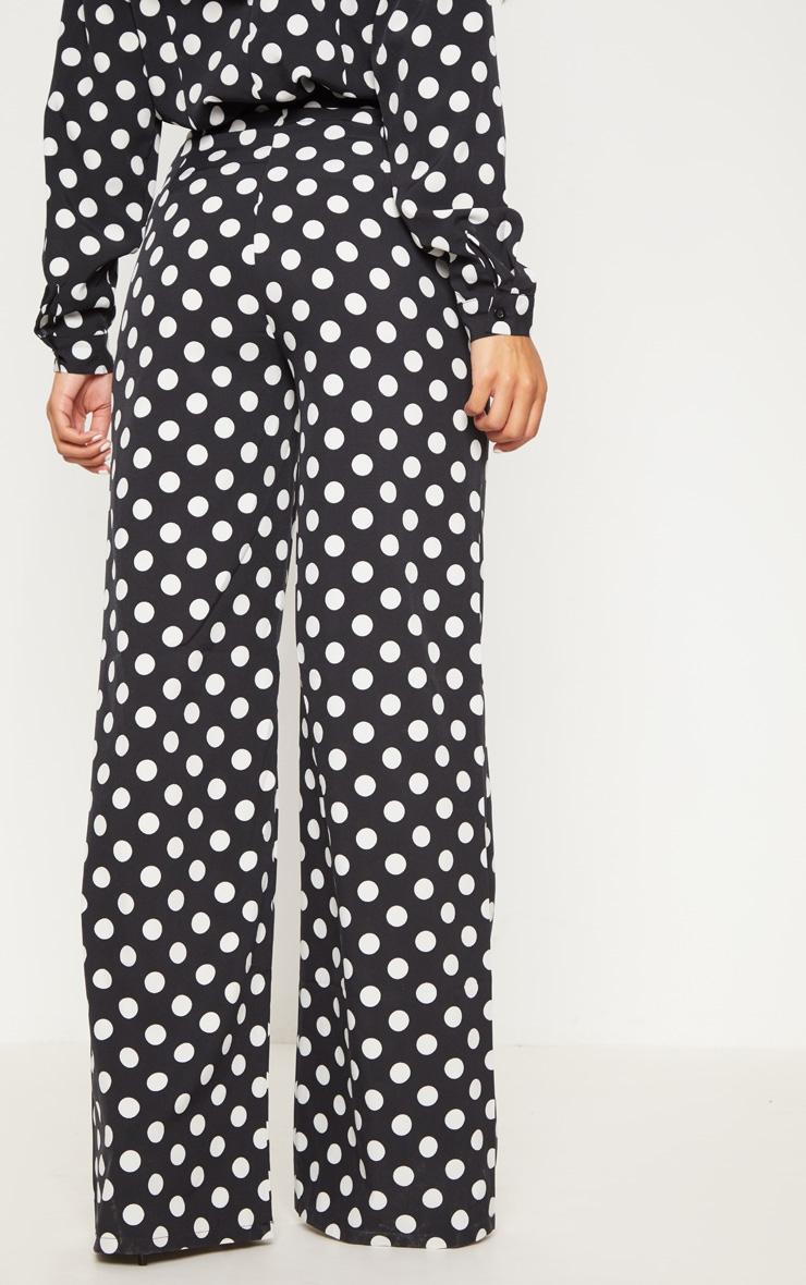 Black Polka Dot Wide Leg Pants 4