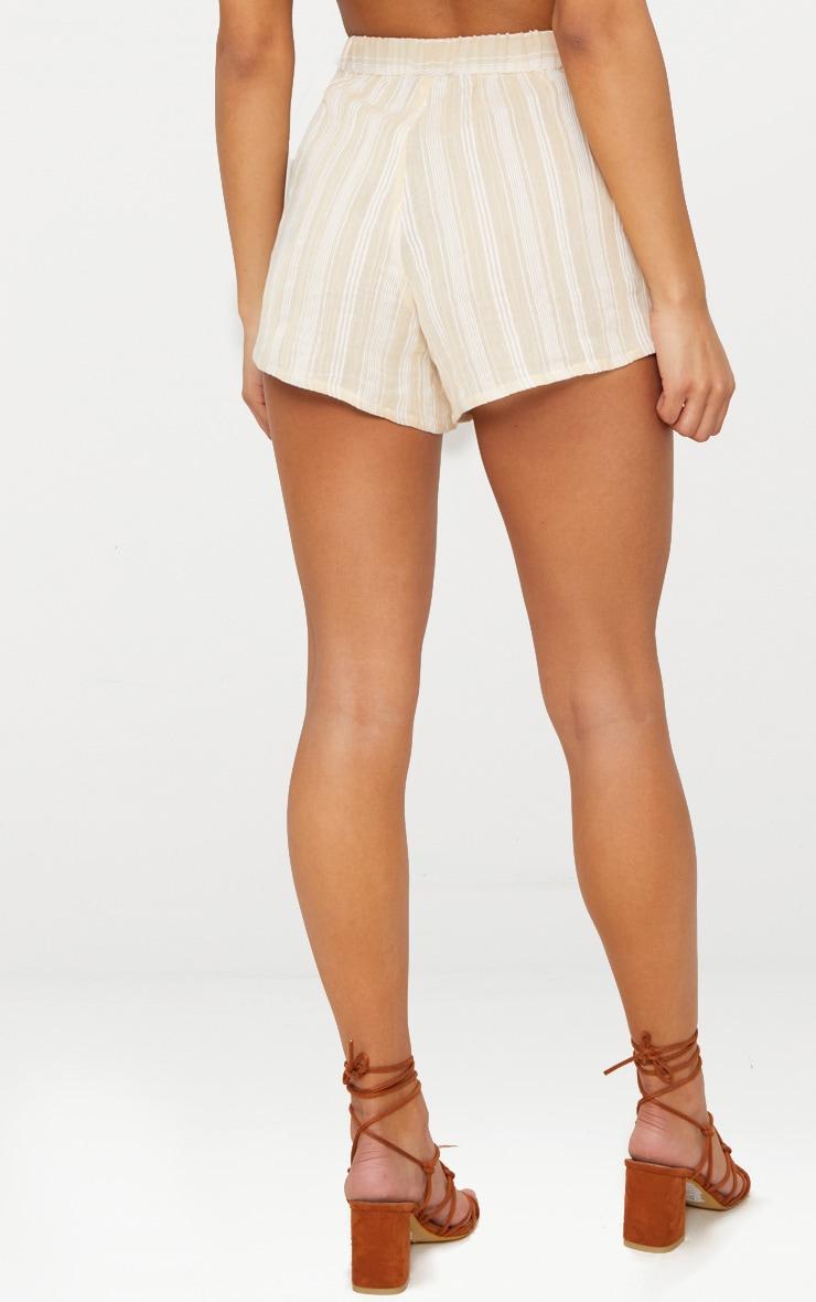 Stone Textured Stripe Shorts  4