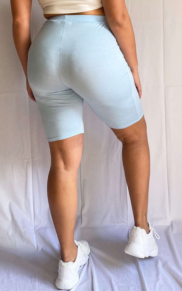 Plus Dusty Blue Basic Bike Shorts 3