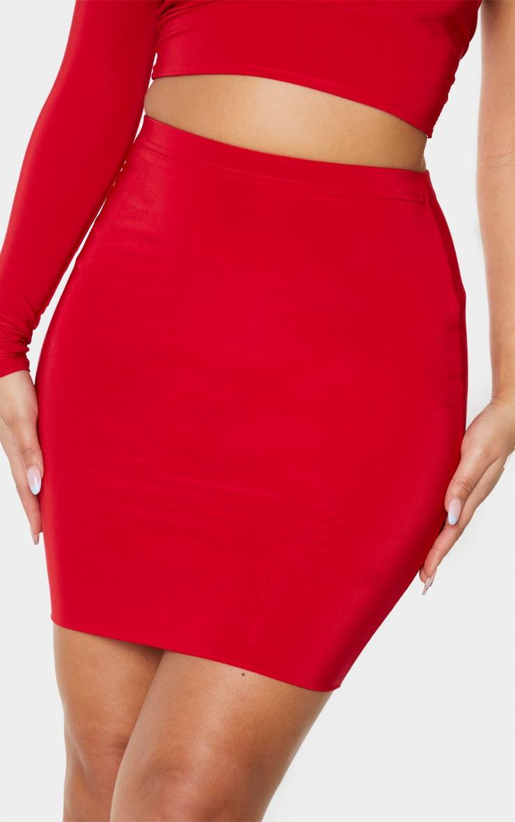 Red Slinky Mini Skirt 5