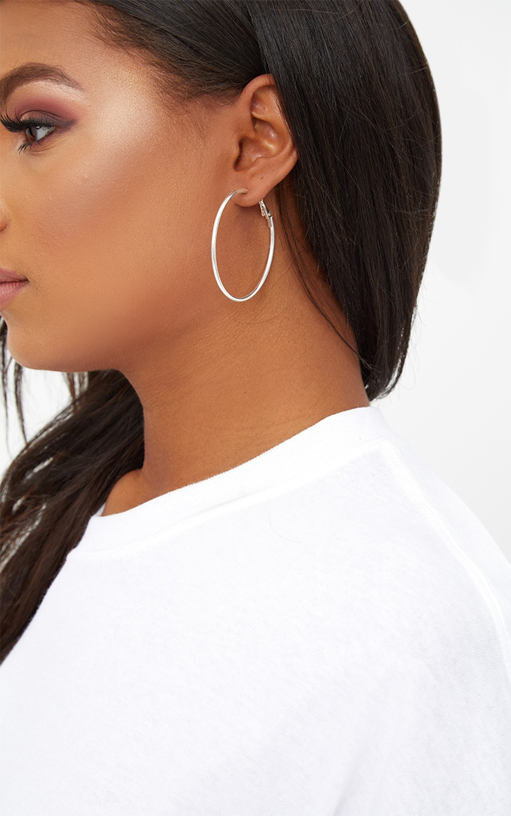 Three Pack Silver Assorted Hoop Earrings 3