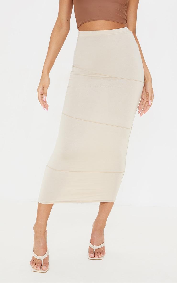 Stone Exposed Seam Midaxi Skirt 2