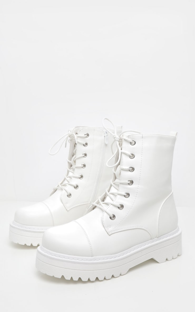 White Hiker Boot 3