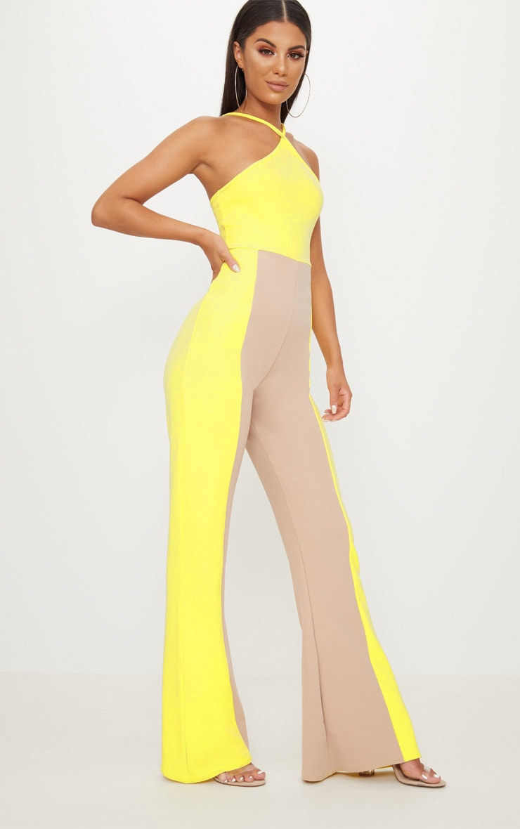 Yellow Colour Block Jumpsuit 4