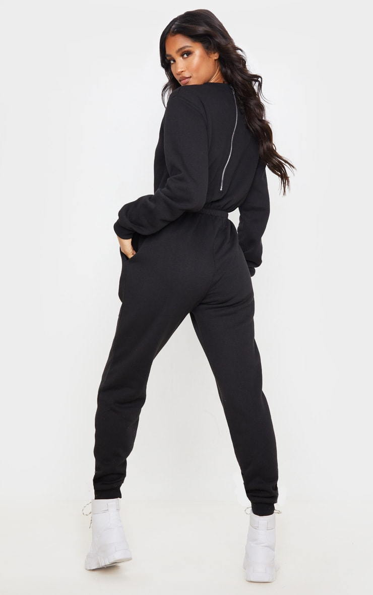 Black California Long Sleeve Jumpsuit 2