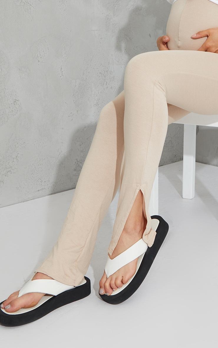 Maternity Stone Basic Split Hem Leggings 4