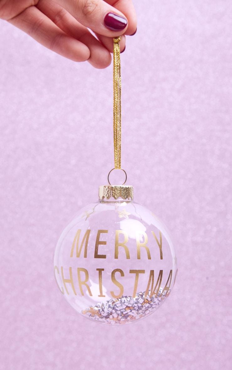 SASS & BELLE Merry Christmas Golden Beads Shaker Bauble 1