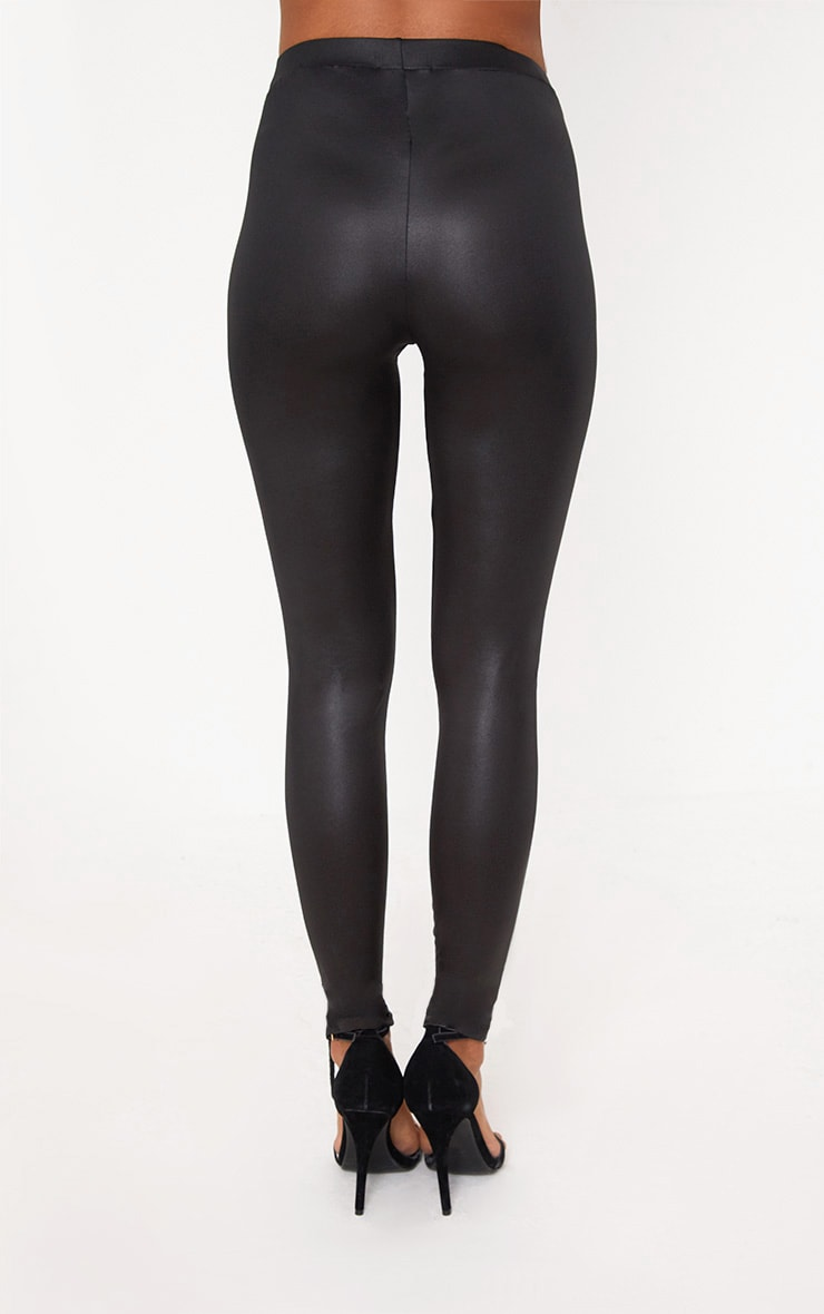 Black Eyelet Lace Up Skinny Trousers 4