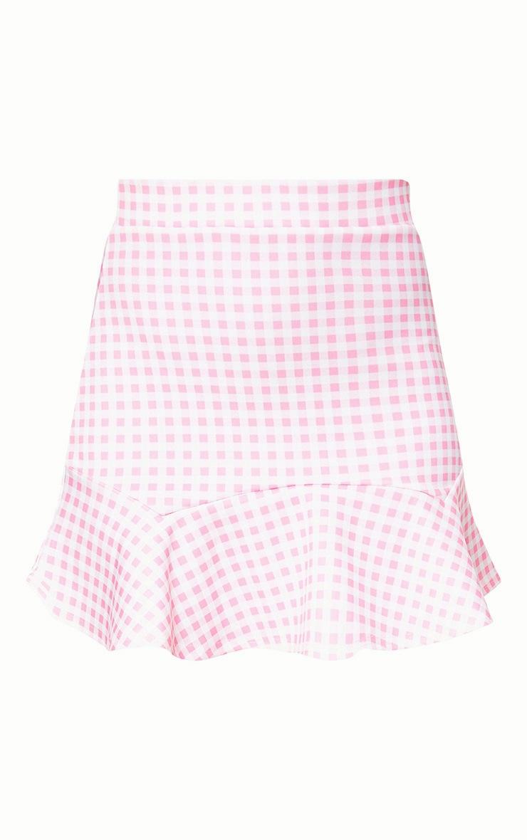 Pink Gingham Flippy Hem Mini Skirt 3