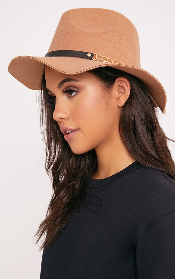 Honna Brown Fedora Hat 1