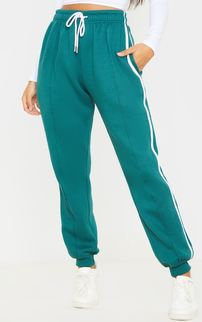 Jasper Green Double Side Stripe Jogger