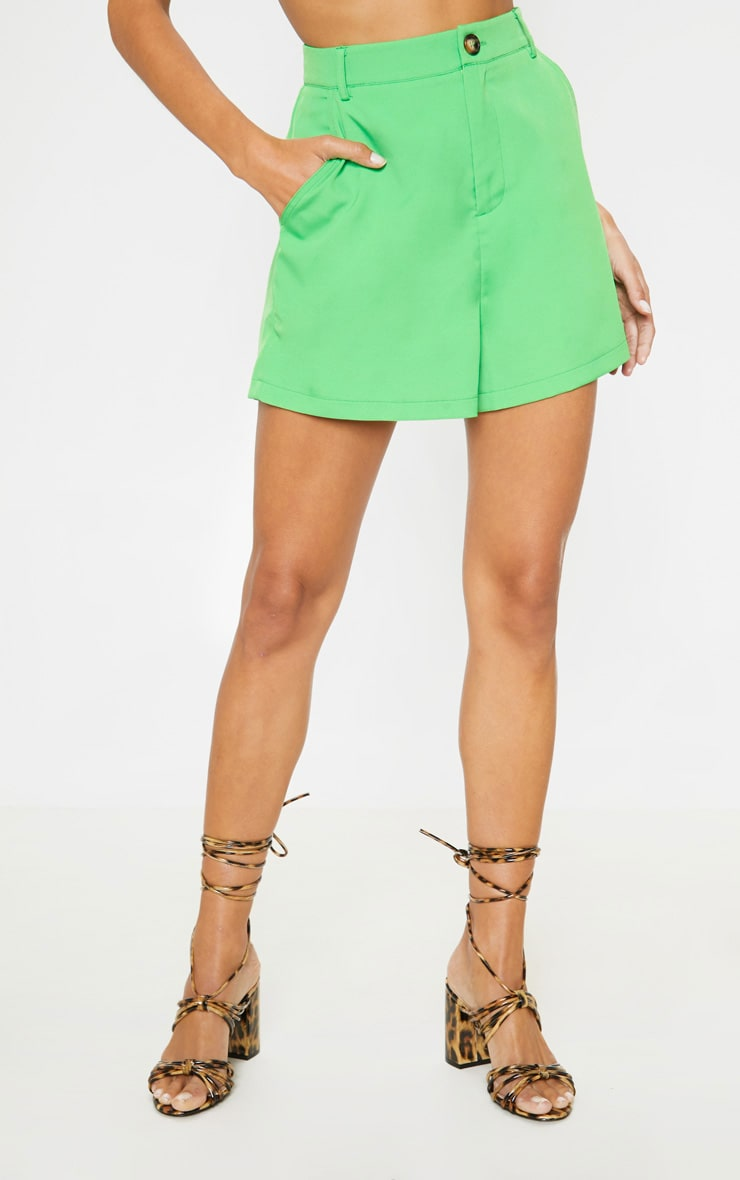 Neon Green Formal Suit Short  2