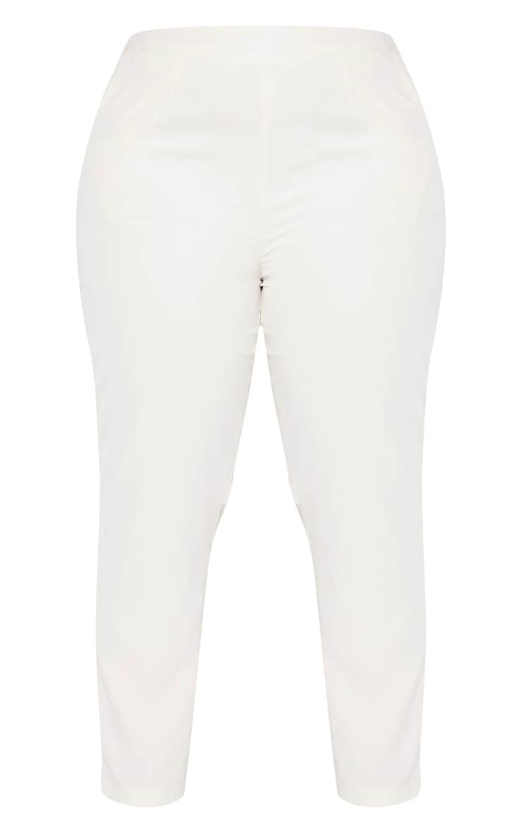 Plus Cream Tailored Pants 3