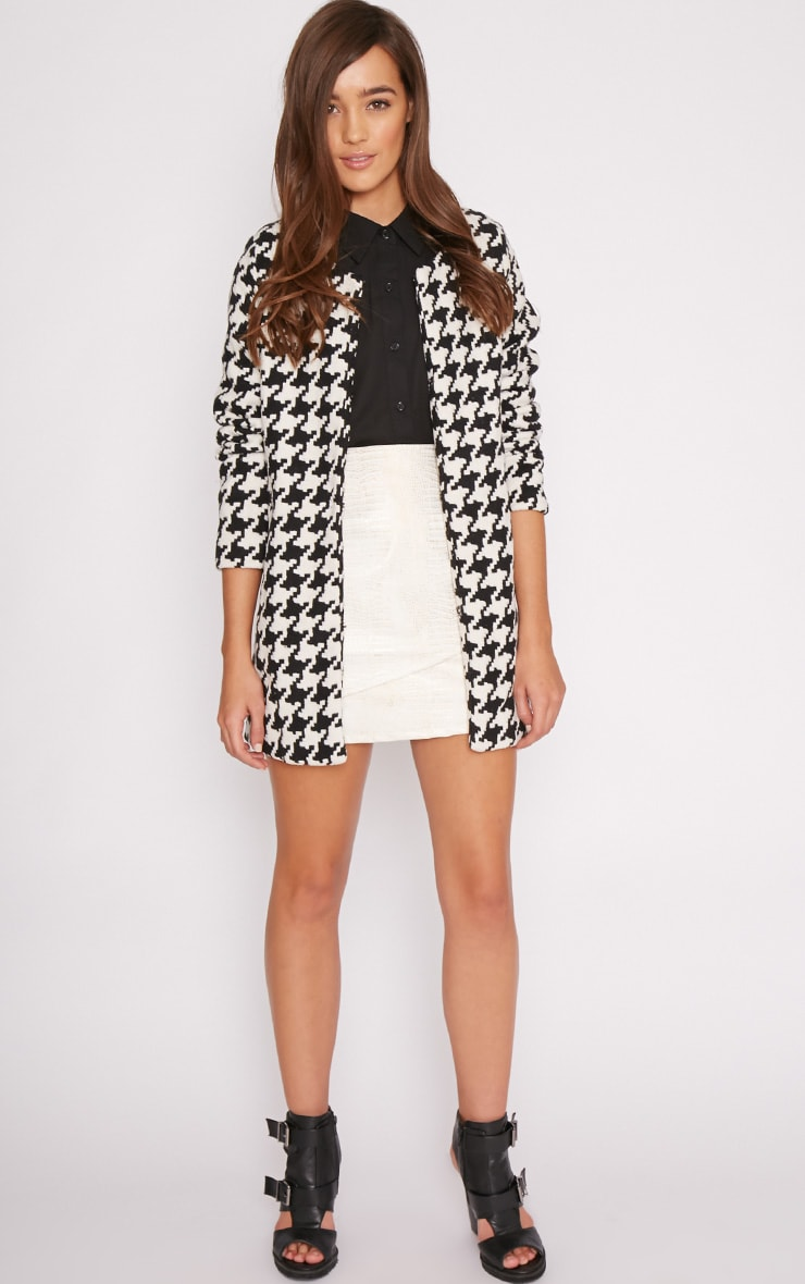 Megane Monochrome Dogtooth Coat 3