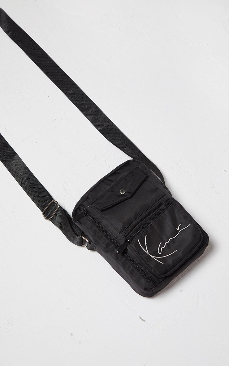 KARL KANI Black Zip Pocket Detail Shoulder Bag 3