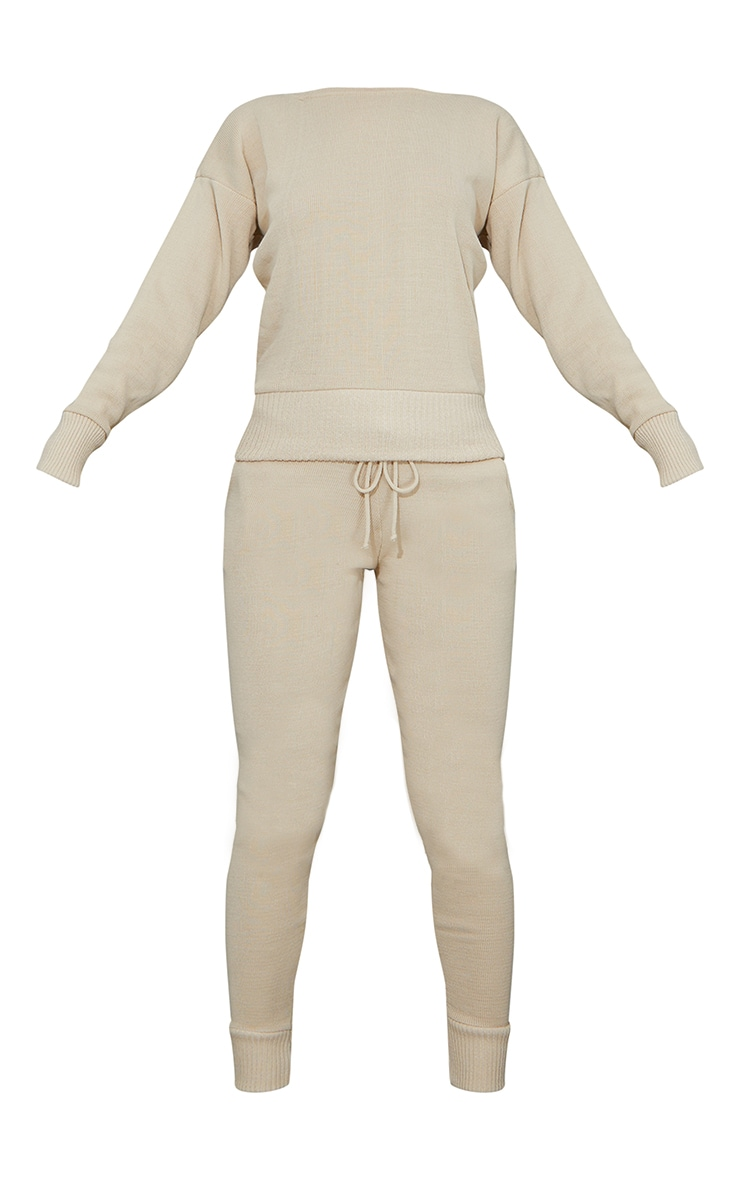 Auriel Stone Jogger Knitted Lounge Set 5