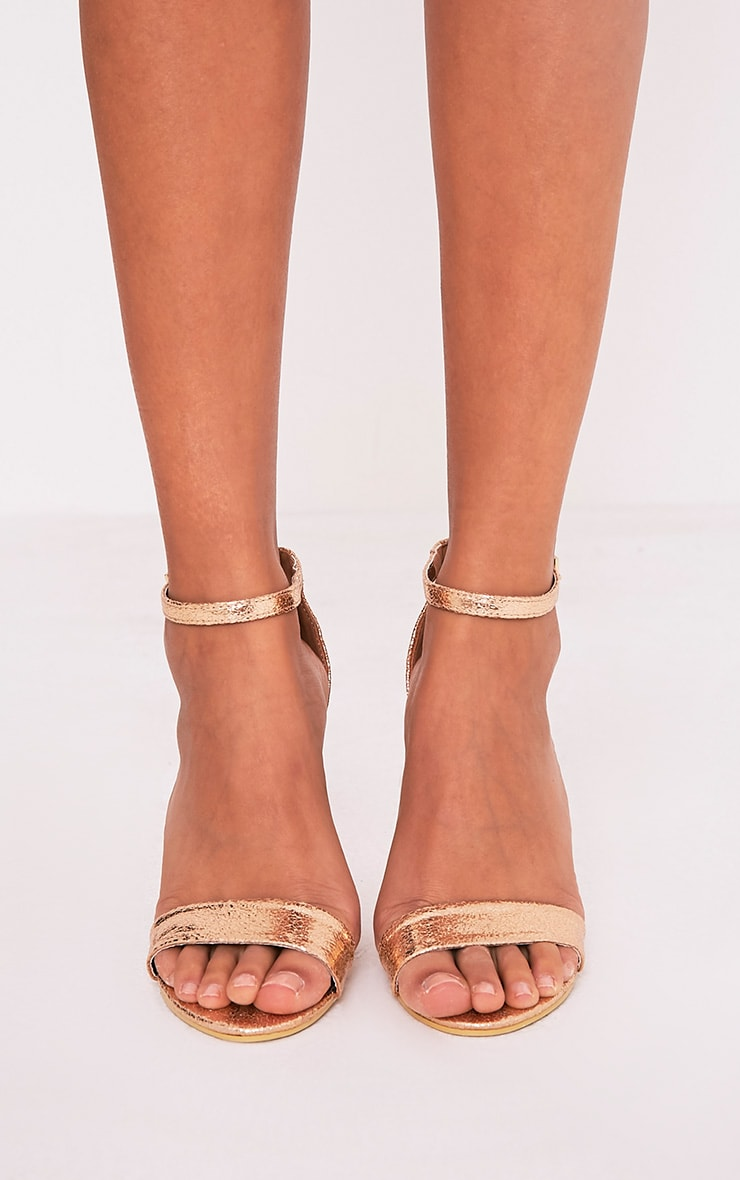 May Rose Gold Block Heeled Sandals Pretty Little Thing irg7HhCvn
